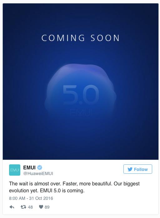 Huawei anuncia la inminente llegada de EMUI 5.0