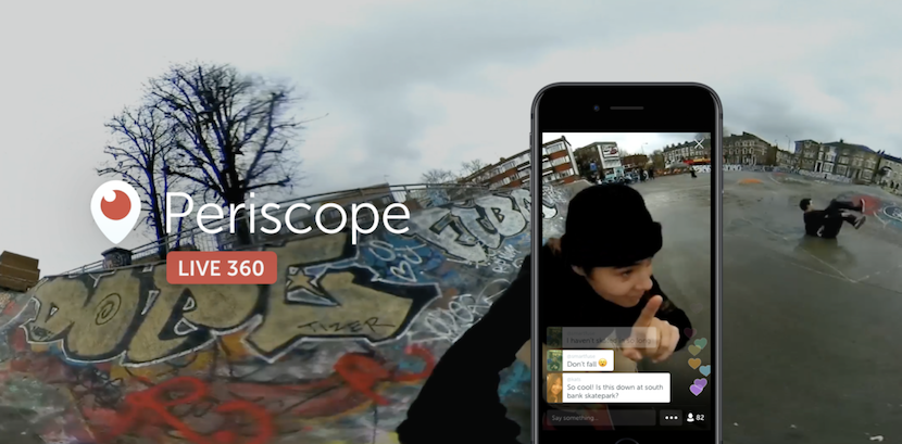 Periscope ya permite transmitir video en directo en 360º