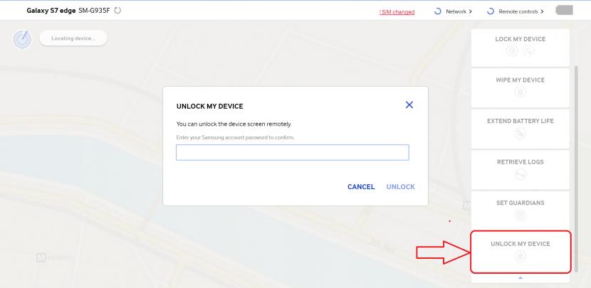 Desbloqueando terminal Android